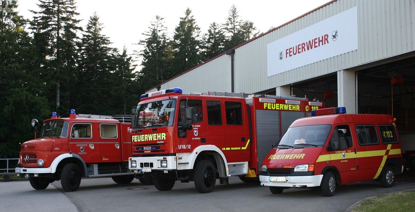 Fahrzeuge der Feuerwehr Besenfeld