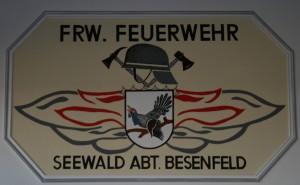 Wappen im Feuerwehrhaus