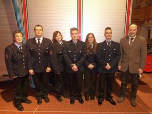 Neueintritte bei der Feuerwehr Besenfeld