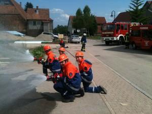 Übung Jugendfeuerwehr Hochdorf